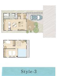 Style-3:オーガニックなアウトドアライフを満喫する開放的な家