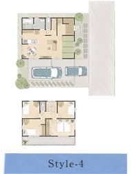 Style-4:家族の成長と共に暮らし方を変えられる、団らんのある家