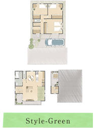 Style-Green:緑をもっと暮らしの中に取り入れたい、建物の内側に庭を取り込んだ家